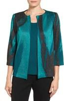 Ming Wang Women's Abstract Print Knit Jacket