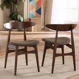 Baxton Studio Flamingo Chairs in Walnut (Set of 2)