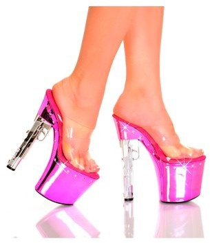 """The Highest Heel Halloween Women's 7 1/2"""" Gun Heel With Diamond Bottom"""