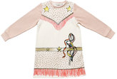 Stella McCartney Savannah Fleece Cowgirl Dress, Cloud, Size 4-6