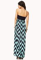 Forever 21 Chevron Maxi Dress
