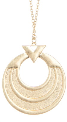 Area Stars Large Medallion Triple Circle Pendant Necklace