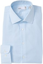 Nordstrom Rack Herringbone Gingham Trim Fit Dress Shirt