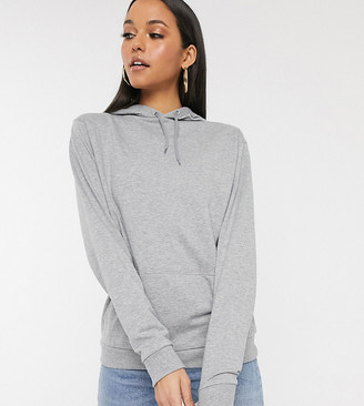 Asos Tall DESIGN Tall ultimate hoodie in grey marl