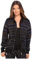 Philipp Plein Embellished Zip-Up Hoodie Women's Sweatshirt