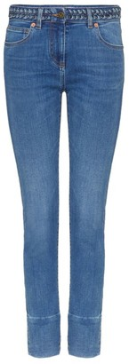 Valentino Woven-Waistband Slim Jeans
