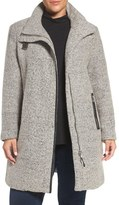 Calvin Klein Plus Size Women's Buckle Tab Detail Stand Collar A-Line Coat