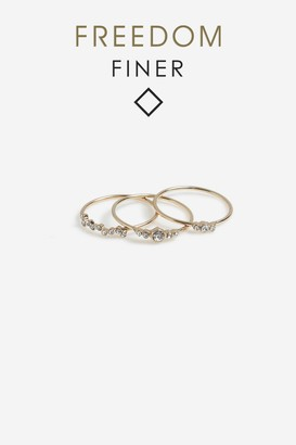 Topshop Freedom Finer Crystal Ring