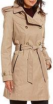 Preston & York Notch Collar Trench Coat With Detachable Hood