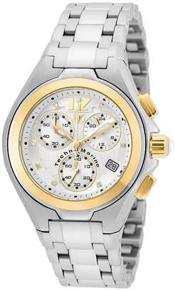 Technomarine TECHNO MARINE Techno Marine Womens Silver Tone Stainless Steel Bracelet Watch-Tm-215024