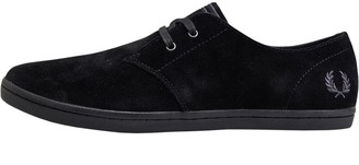 Fred Perry Mens Byron Low Suede Trainers Black