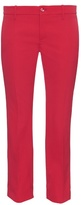 Gucci Slim kick-flare cropped stretch-wool trousers