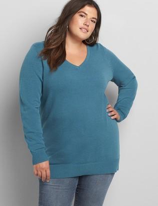 Lane Bryant Long-Sleeve V-Neck Sweater