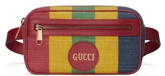Gucci Baiadera stripe canvas belt bag