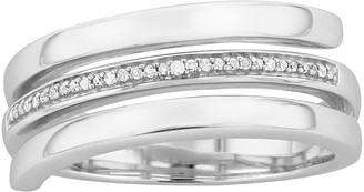 Sterling Silver Diamond Accent Coil Ring