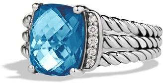 David Yurman Wheaton Petite Ring with Semiprecious Stone & Diamonds