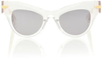 Bottega Veneta 04 Cat-Eye Acetate Sunglasses