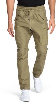 PRPS Men's Drop-Crotch Tapered Cargo Pants