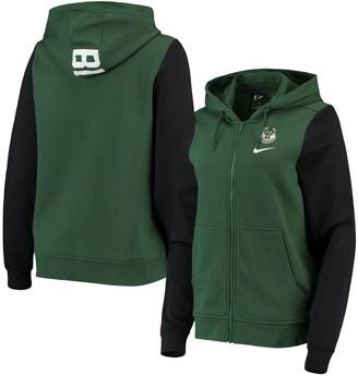 Nike Women's Hunter Green Milwaukee Bucks Club Fleece Full-Zip Hoodie