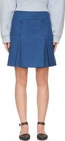 Richard Nicoll Blue Box Pleat Mini Skirt