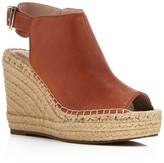 Kenneth Cole Olivia Leather Espadrille Wedge Platform Sandals
