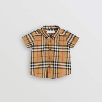 Burberry Childrens Short-sleeve Vintage Check Cotton Shirt Size: 2Y