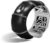 John Hardy Women's Bamboo 32MM Kick Cuff in Sterling Silver and Enamel