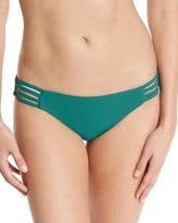 Red Carter Strappy-Side Bikini Swim Bottom, Lagoon