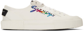 Givenchy White Signature Low Light Tennis Sneakers
