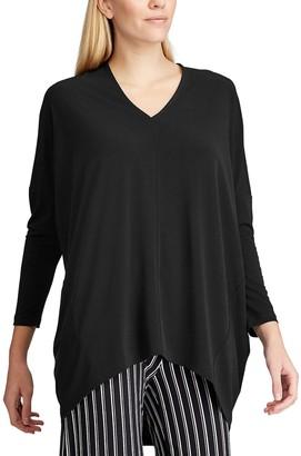 Chaps Women's High-Low Hem Poncho Sweater