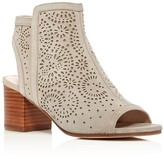 Via Spiga Jorie Perforated Open Toe Booties