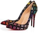 Christian Louboutin Arletta 100 Version Black Strass - Women Shoes