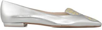 Sophia Webster Silver Butterfly Ballet Shoes