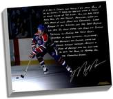 """Steiner Sports Edmonton Oilers Mark Messier Oilers Dynasty Facsimile 22"""" x 26"""" Stretched Story Canvas"""