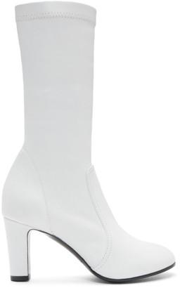A Plan Application A-Plan-Application White Low Stretch Boots