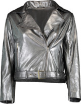 Nour Hammour Daphne Cropped Metallic Jacket
