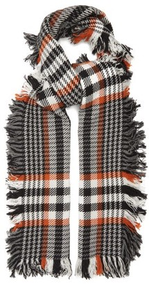 Johnstons of Elgin Johnston's Of Elgin - Checked Merino-wool Scarf - Black White