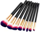 MagiDeal 8pcs Wooden Handle Cosmetic Set Powder Foundation Eyeshadow Eyebrow Contour Lip Makeup Brushes