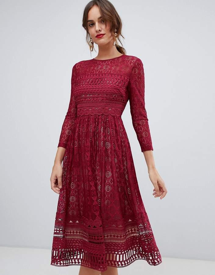 675dfd69e7 Asos Lace Midi Dresses - ShopStyle