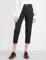 Jil Sander Tailored-fit mid-rise cropped stretch-cotton trousers