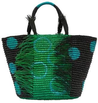 Sensi Studio Dots basket handbag