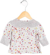 Stella McCartney Girls' Long Sleeve Floral Print Top