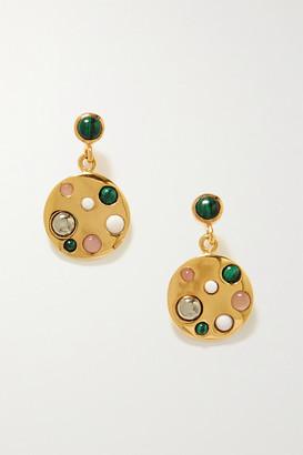 Anna Beck Rasa X Gold-plated Multi-stone Earrings