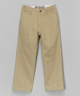 Micros Khaki Straight-Leg Pants - Boys