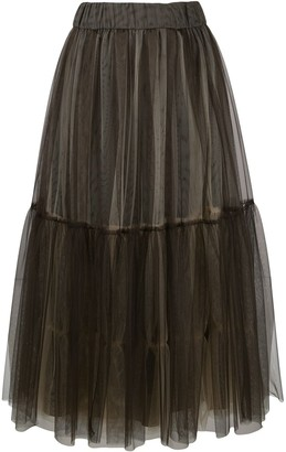 Peserico Full Layered Tulle Skirt