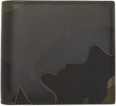 Valentino Green Camo Bifold Wallet