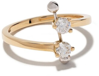 Delfina Delettrez 18kt yellow and white Two In One diamond ring