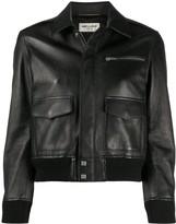 Saint Laurent cropped leather jacket