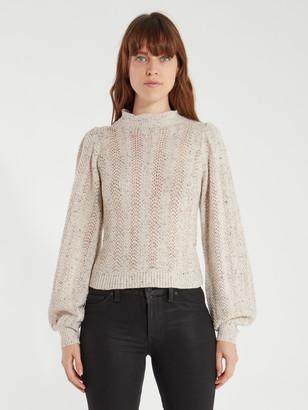 ASTR the Label Brynn Textured Pointelle Sweater