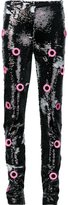 Jeremy Scott 'Holey Sequin' trousers - women - Polyester/Rayon/Other fibres - 40